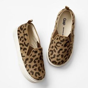Gap Kids Leopard Slip-on Sneakers - Size 4 (NWT)